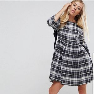 ASOS gingham long sleeve dress size 6